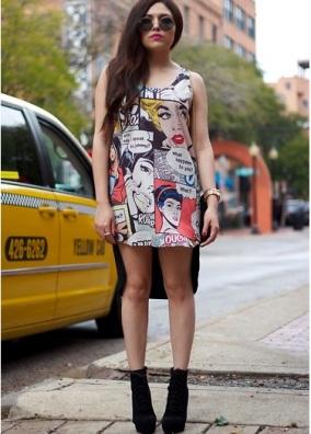 Comic-stamps-dress